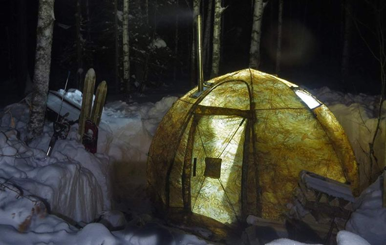 tent with a stove jack