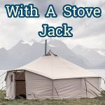winter tent with a stove jack