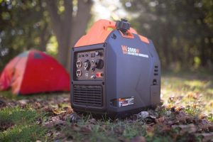 generator and tent