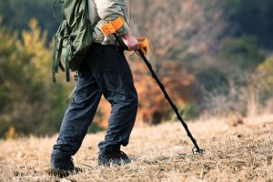 treaure hunting with a metal detector