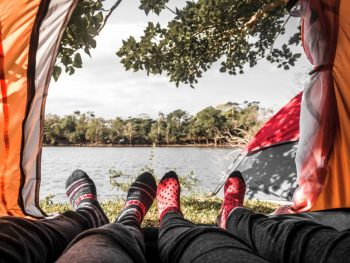 feet and tent