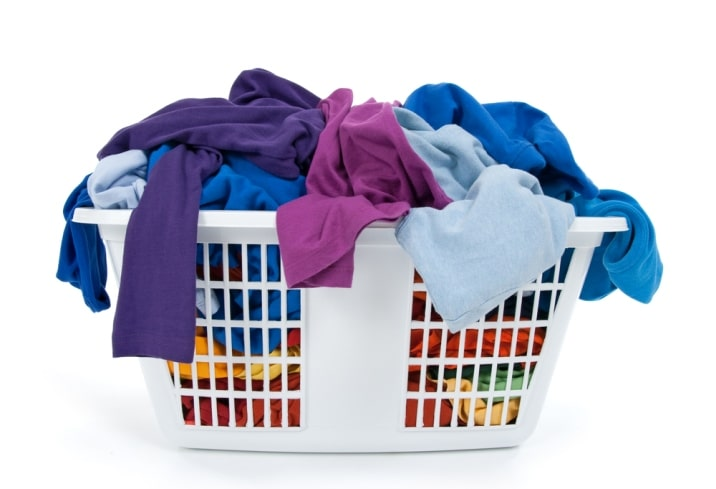 basket of clothes