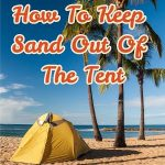 keeping sand out of the tent